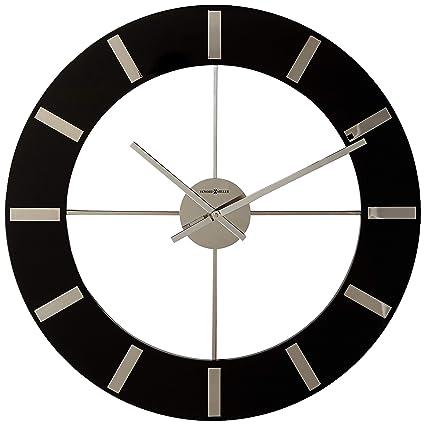 Amazon Com Howard Miller 625 602 Onyx Wall Clock Home Kitchen