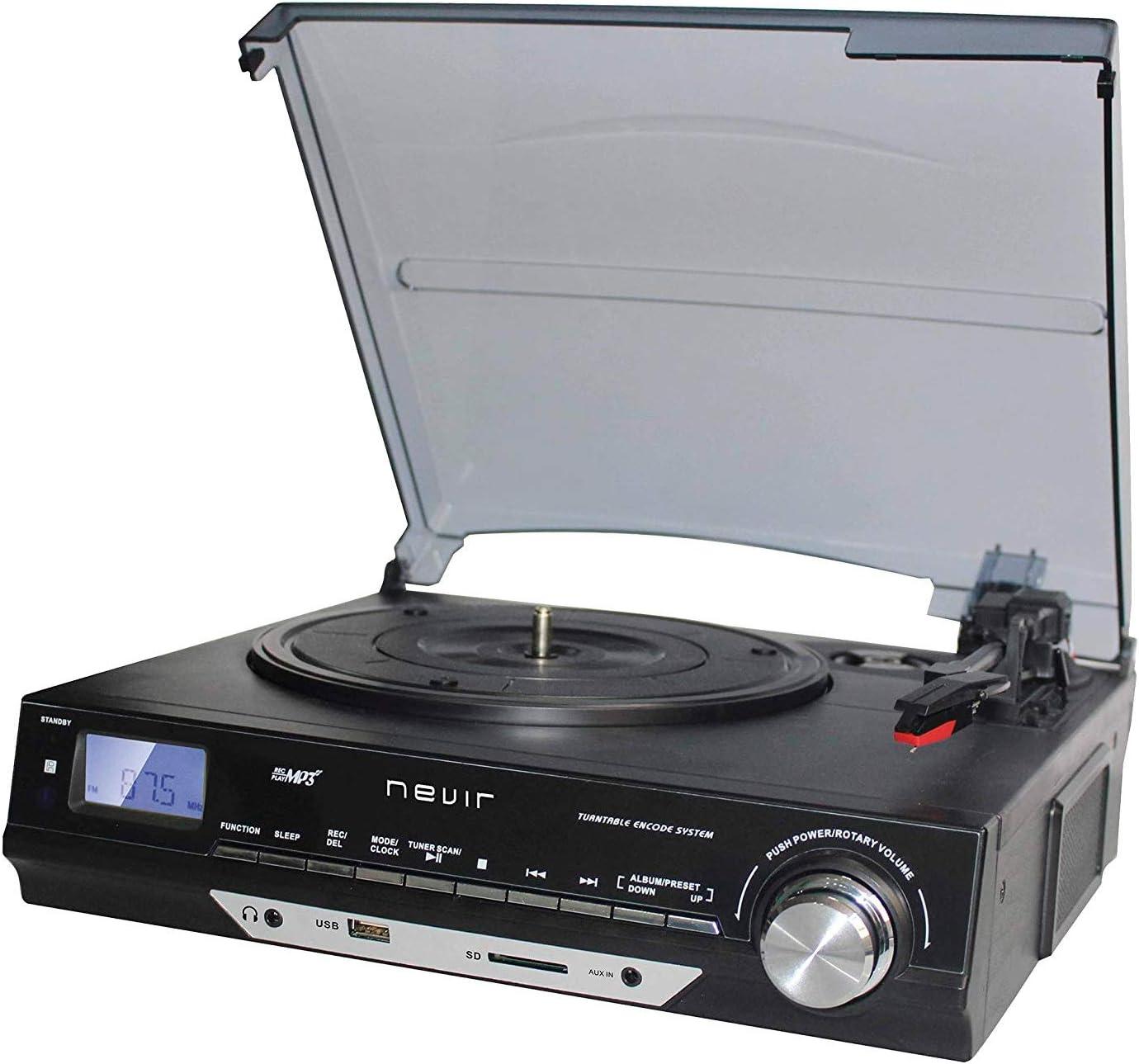 Nevir NVR-811 VMUC Tocadiscos Retro: Amazon.es: Electrónica