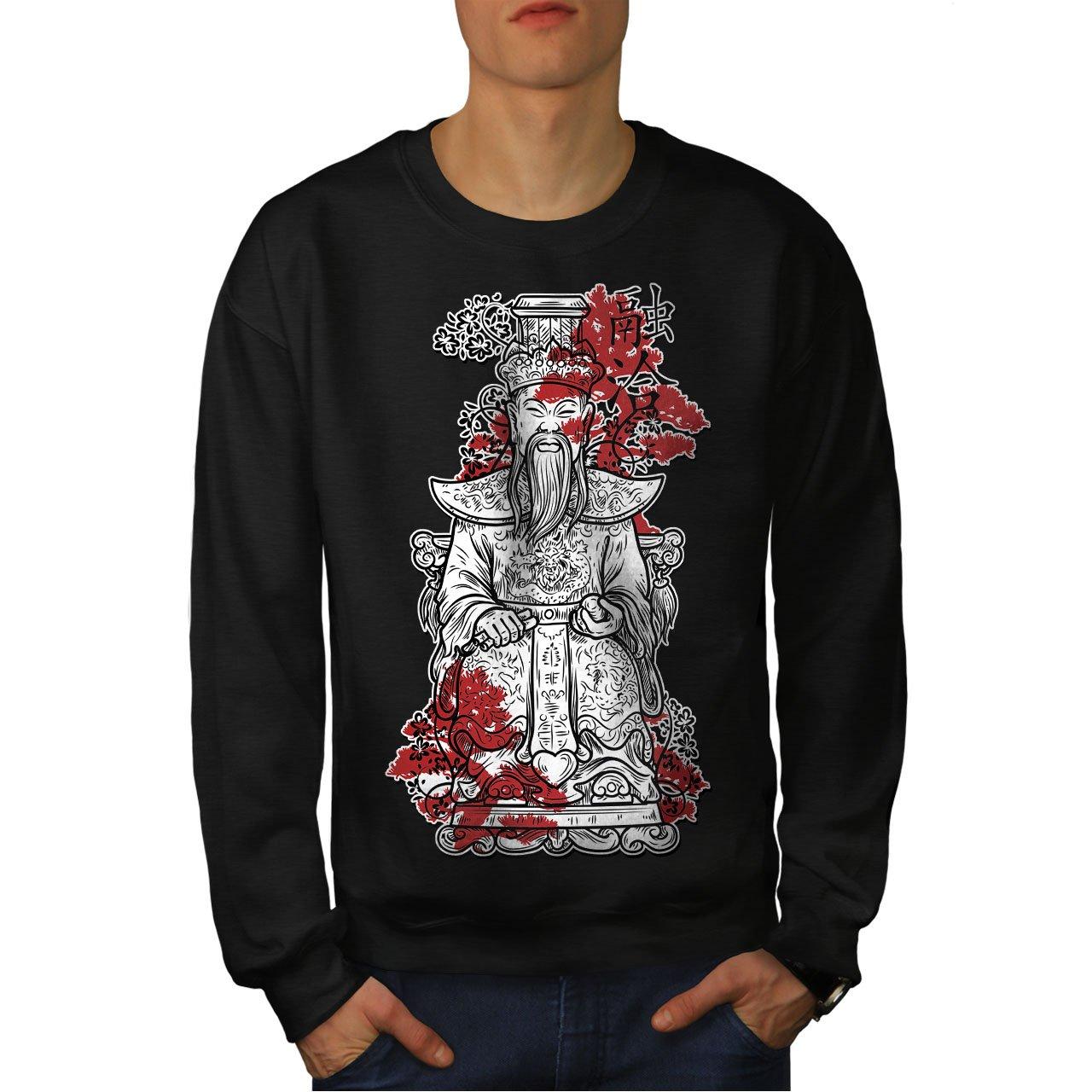 wellcoda Japanese King Art Mens Sweatshirt Empire Casual Jumper