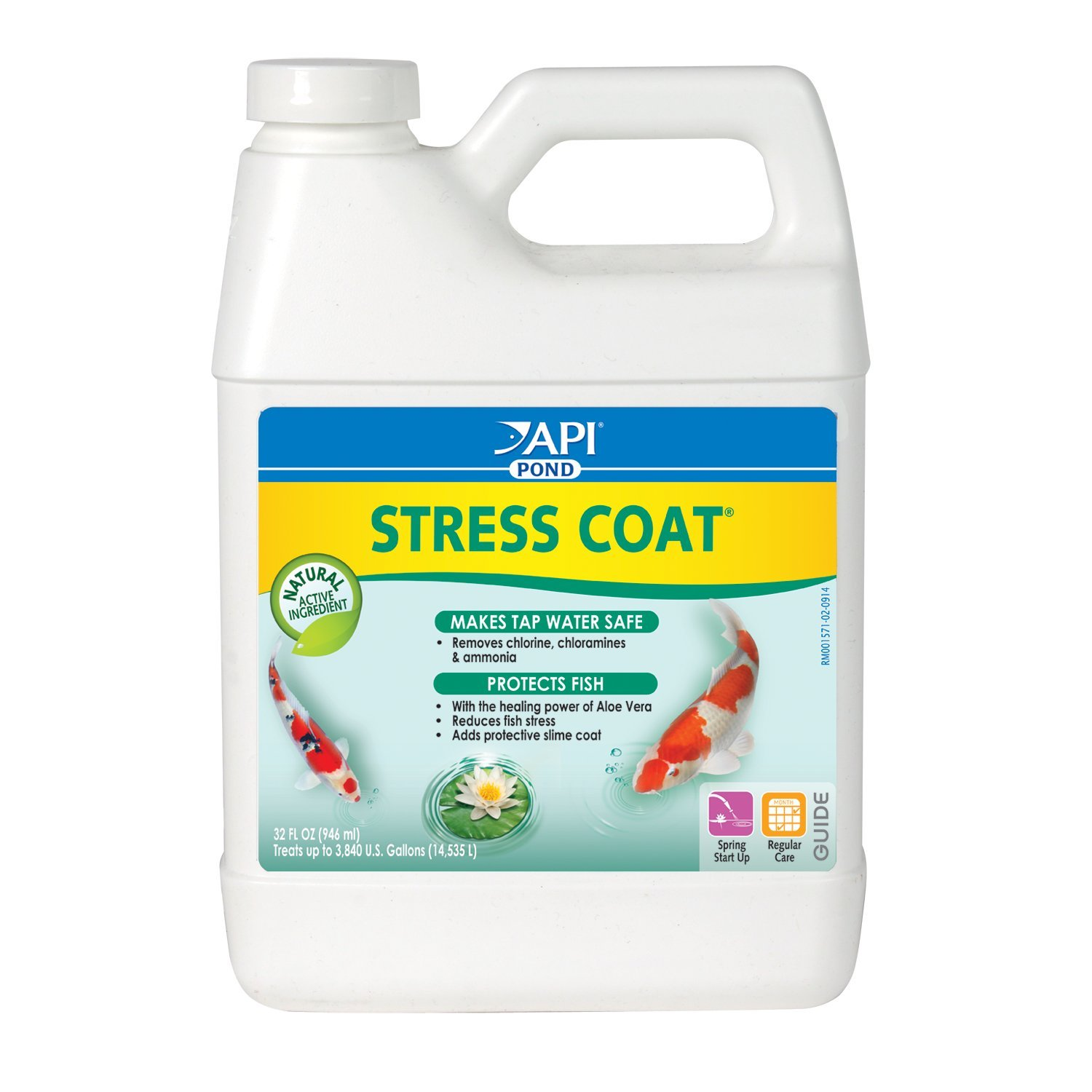 PondCare® Stress Coat Fish & Water Conditioner (32 oz.) by Aquarium Pharmaceuticals, API, MARS Fishcare