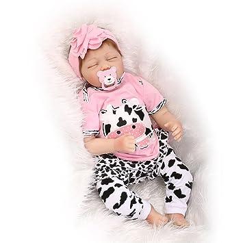 Amazon.es: ZELY 22 Pulgadas 55 cm Reborn Muñeca Bebé ...