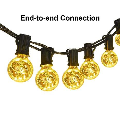 Classyke G40 Globe String Lights 25 Feet Linkable Indoor Outdoor Lights 25 LED Light Bulbs Energy  sc 1 st  Amazon.com & Amazon.com : Classyke G40 Globe String Lights 25 Feet Linkable ...