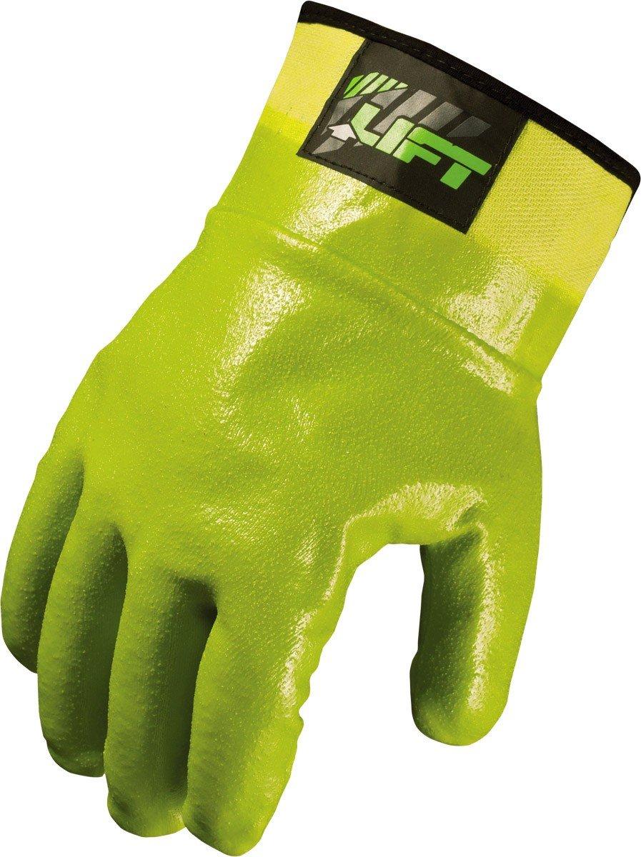 LIFT Safety Sandy Dipped Rigger Gloves Green, Large GSR-13HVL