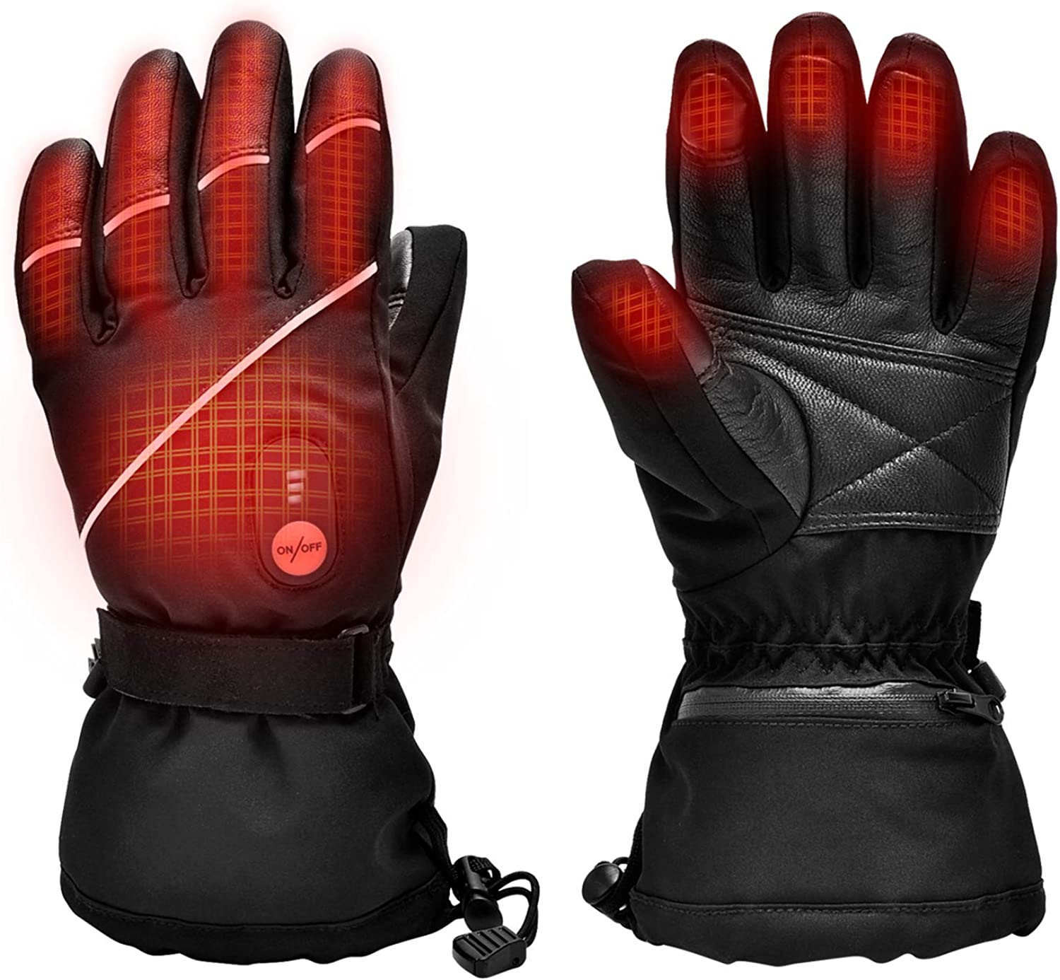 Upgraded Heated Gloves for Men Women,Electric Ski Motorcycle Snow Mitten Glove Arthritis