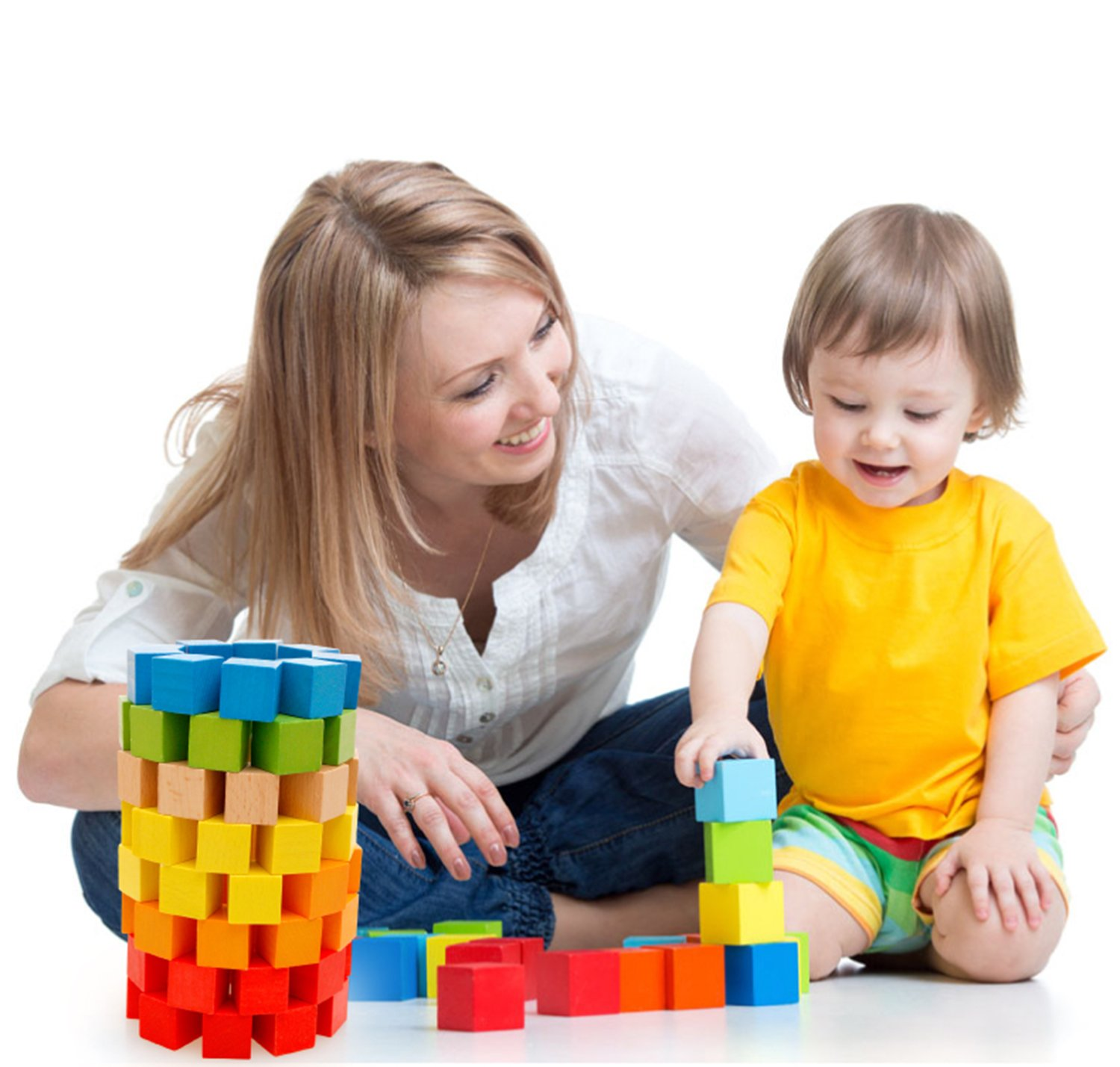 Amazon Lewo Wooden Building Blocks Games Children Educational