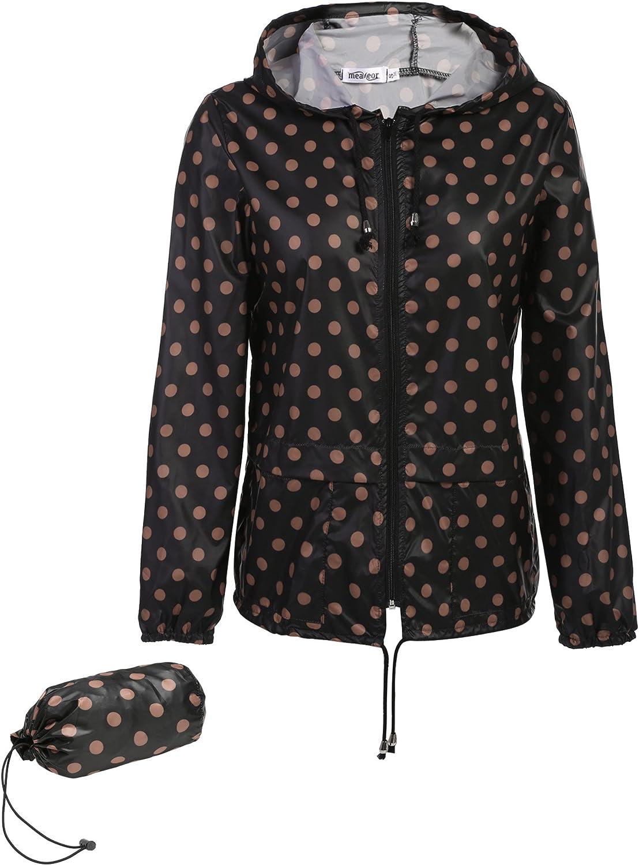 Meaneor giacca impermeabile giacca transizione signore giacca con il sacchetto cappuccio pioggia Parka impermeabile traspirante