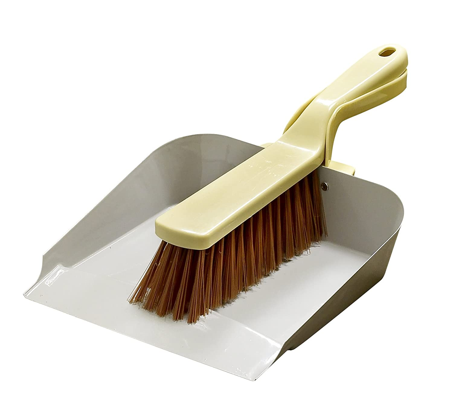 Lily and Brown Metal Dustpan and Brush LG Harris