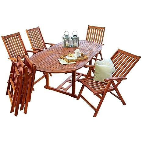 Tavolo Con 6 Sedie In Legno.Seggiolino Gruppo Mobili Da Giardino Set Tavolo Con 6 Sedie