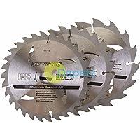 Dapetz ® Circular Saw Blades 150mm Hard Soft Wood Chipboards 16 24 & 30 Teeth TCT 3 Pack