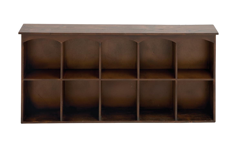 Benzara 65326 The Sleek Wood Wall Shelf