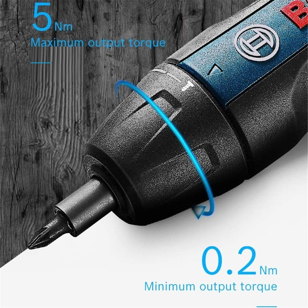 Professional Blau Akku Schrauber Mini Elektrisches Schraubenwerkzeug Generation Upgrade 3.6 V Smart Cordless Akkuschrauber Set F/ür Bosch Go 2 Push