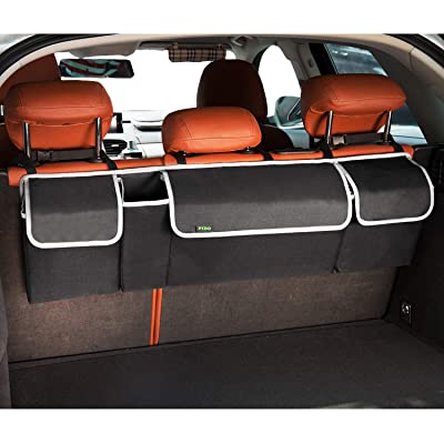 PIDO Backseat Trunk Organizer, Hanging Seat Back Storage Organizer for SUV and Many Vehicles – Free Your Trunk Space: Automotive