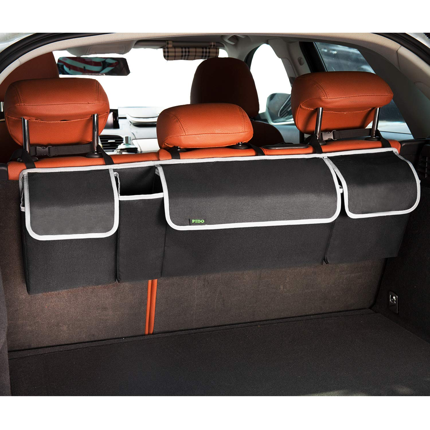 PIDO Backseat Trunk Organizer, Auto Hanging Seat Back Storage Organizer for SUV and Many Vehicles – Free Your Trunk Space
