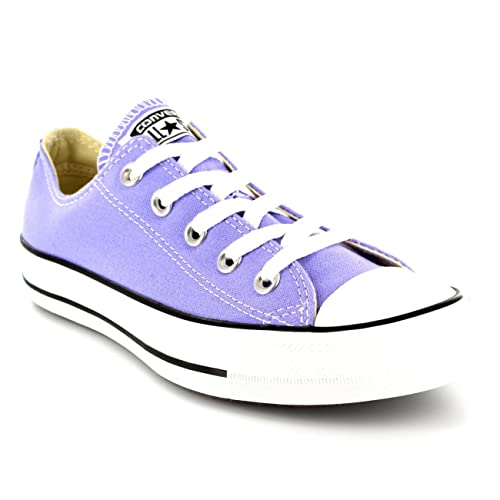fdd14506f5a2 ... Converse Womens All Star Chuck Taylor Ox Lace Up Low Top Canvas  Sneakers - Lavender Glow ...