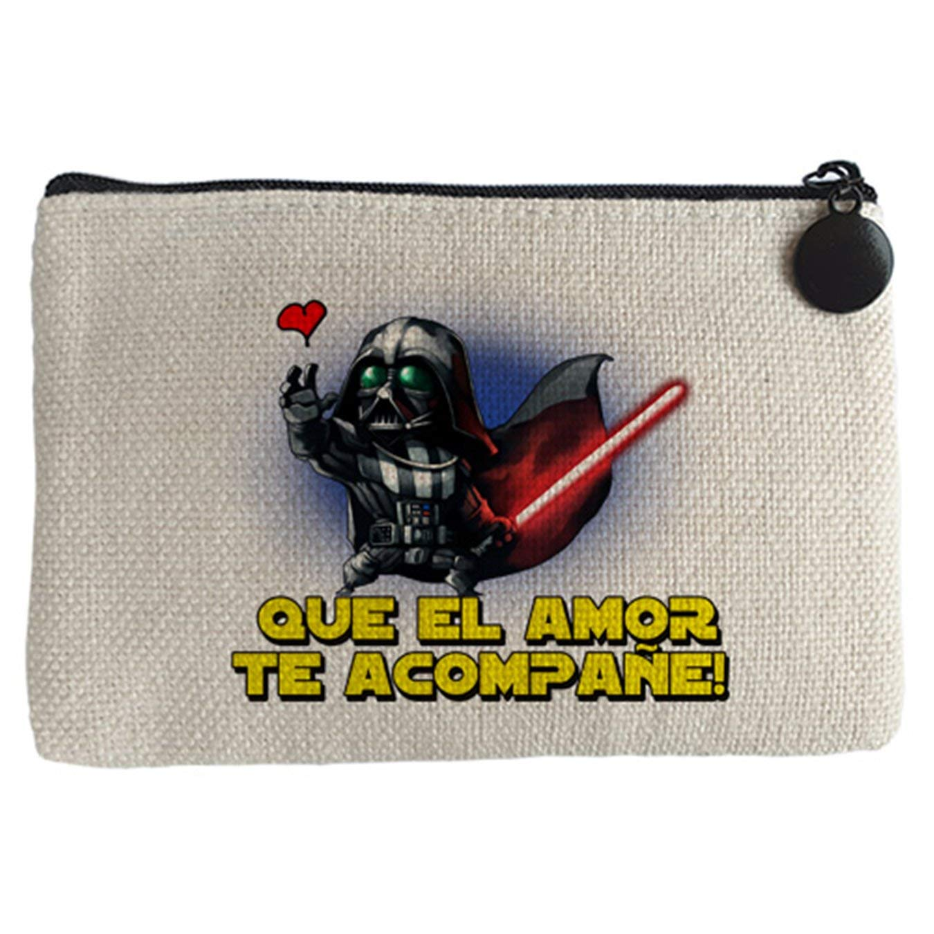 Monedero Star Wars que el amor te acompañe - Beige, 15 x 10 ...