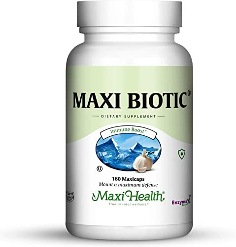 Maxi Health Biotic 450 – Aged Garlic Extract – Immune Booster – 180 Extra Strength Capsules – Kosher