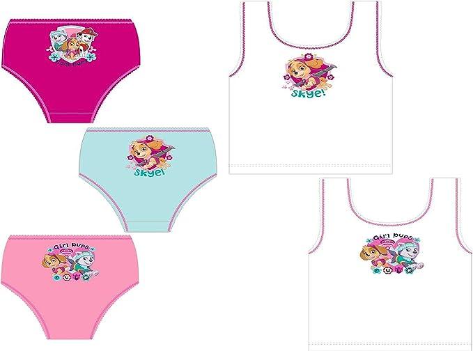 Paw Patrol Girls Skye Childrens 3 Pack Underwear Briefs Set