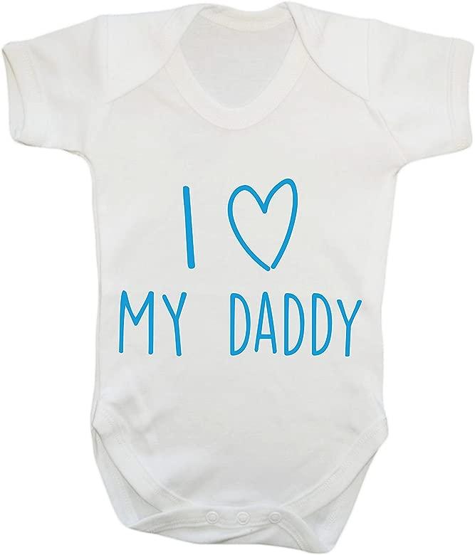 Mummys Cute Im Cute Baby Vest Daddys Lucky blue