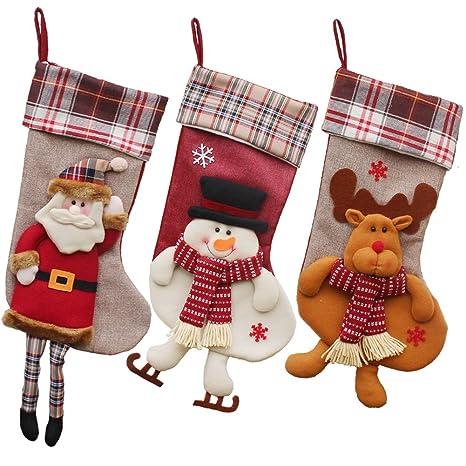 Set de calcetines personalizados Feliz Navidad, Decoración para la chimenea, tamañ