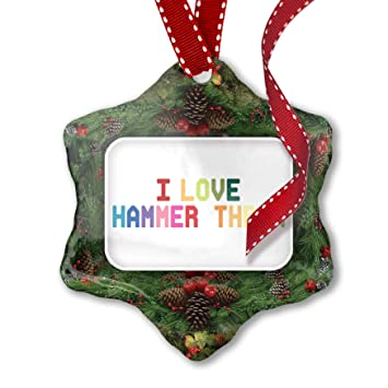 Image Unavailable - Amazon.com: NEONBLOND Christmas Ornament I Love Hammer Throw