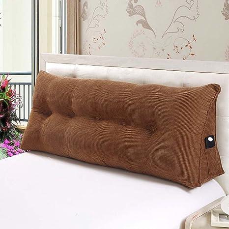 Cojín de posicionamiento Vercart con diseño de cuña triangular para cama grande, almohada para leer en la cama que ofrece apoyo lumbar, con cubierta ...