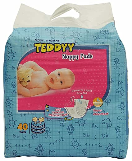 3e37bf85b9f Buy Teddyy Nappy Pads (40 Count) Online at Low Prices in India - Amazon.in