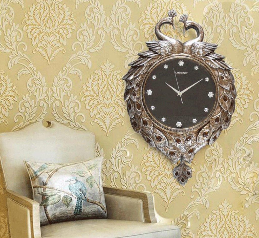 TXXM クリエイティブウォールクロック吉祥のアートリビングルームミュートの壁時計現代のヨーロッパのスイング時計の装飾 (色 : D, サイズ さいず : 16 inches) B07F9VV4BN 16 inches|D D 16 inches