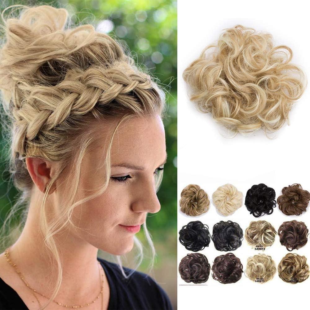 Chignon Postiche Extension De Cheveux Hair Bun Hair Extensions Blond Fonce Blond Tres Clair Amazon Fr Beaute Et Parfum