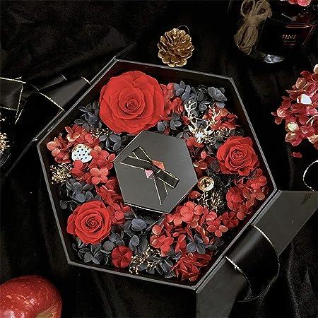Chengzuoqing Flor de jabón Caja de Regalo de Flores Rosas ...