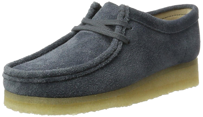 Clarks Wallabee, Zapatos de Cordones Derby para Mujer 36 EU|Azul (Slate Suede)