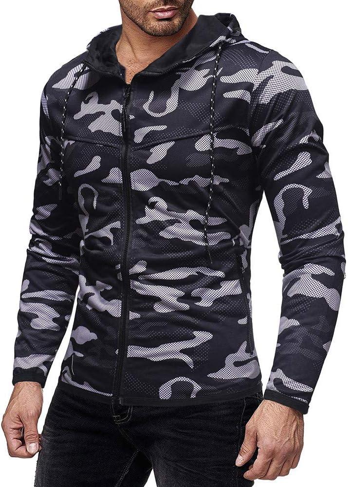 FossenHom - Camisetas de Tirantes Hombre Deportivas con Capucha Camuflaje - Camiseta Deporte Hombre, Blusa de Manga Larga: Amazon.es: Ropa y accesorios