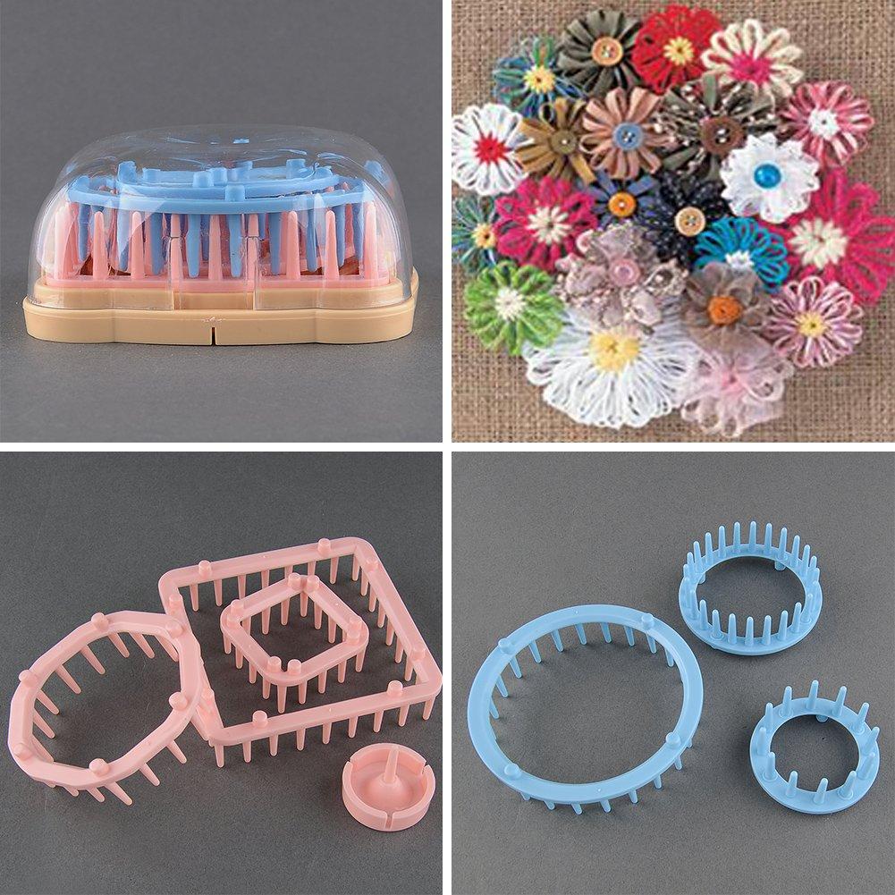 6 Sizes Knitting Tool Knit Flower Pattern Tassels Loom Craft Maker Yarn Kit Set 30174 30174-Hon015872