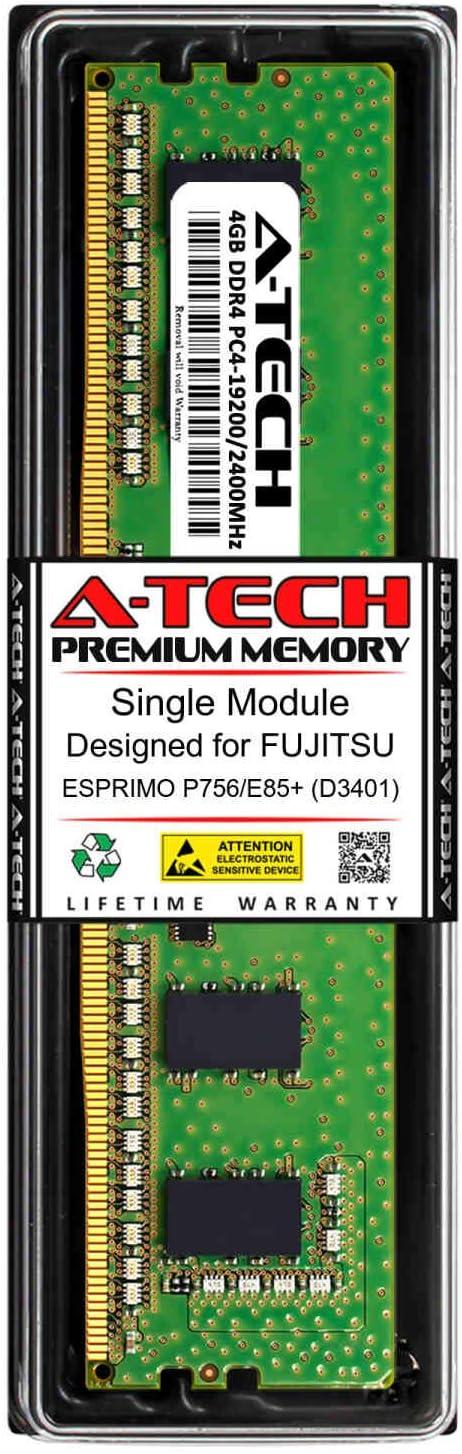 A-Tech 4GB RAM for FUJITSU ESPRIMO P756//E85+ DDR4 2400MHz DIMM PC4-19200 288-Pin Non-ECC UDIMM Memory Upgrade Module D3401