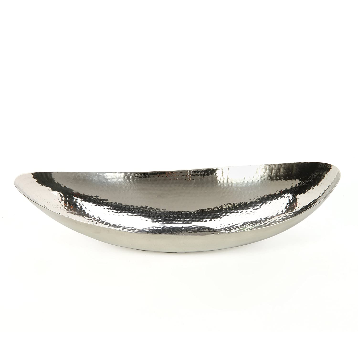 Hosley 13.5 Hammered Stainless Steel Oval Bowl Ideal for Orbs, Dry Potpourri, Ball Candles, Weddings, Special Events, Center Pieces, Crafts. Coordinate with Other Hosley Decor & Floor vases FBA_FBA-G34271ON-1-EA