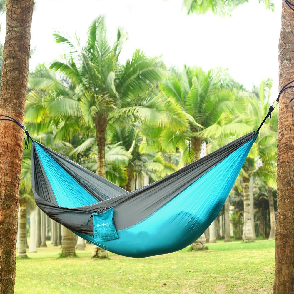 Good Amazon.com: Newdora Camping Hammocks Garden Hammock Ultralight Portable  Nylon Parachute Multifunctional Lightweight Hammocks With 2 X Hanging  Straps For ...