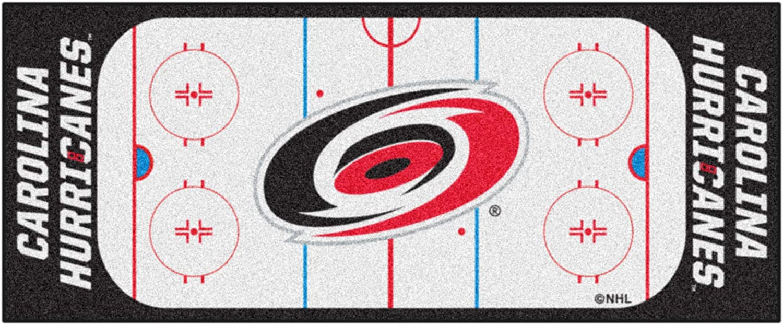 "FANMATS - 10532 NHL Carolina Hurricanes Nylon Face Football Field Runner, 30""x72"""