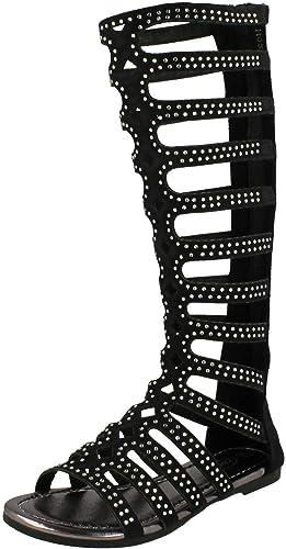 Details about  /Girls Spot On Knee High Gladiator /'Sandals/'