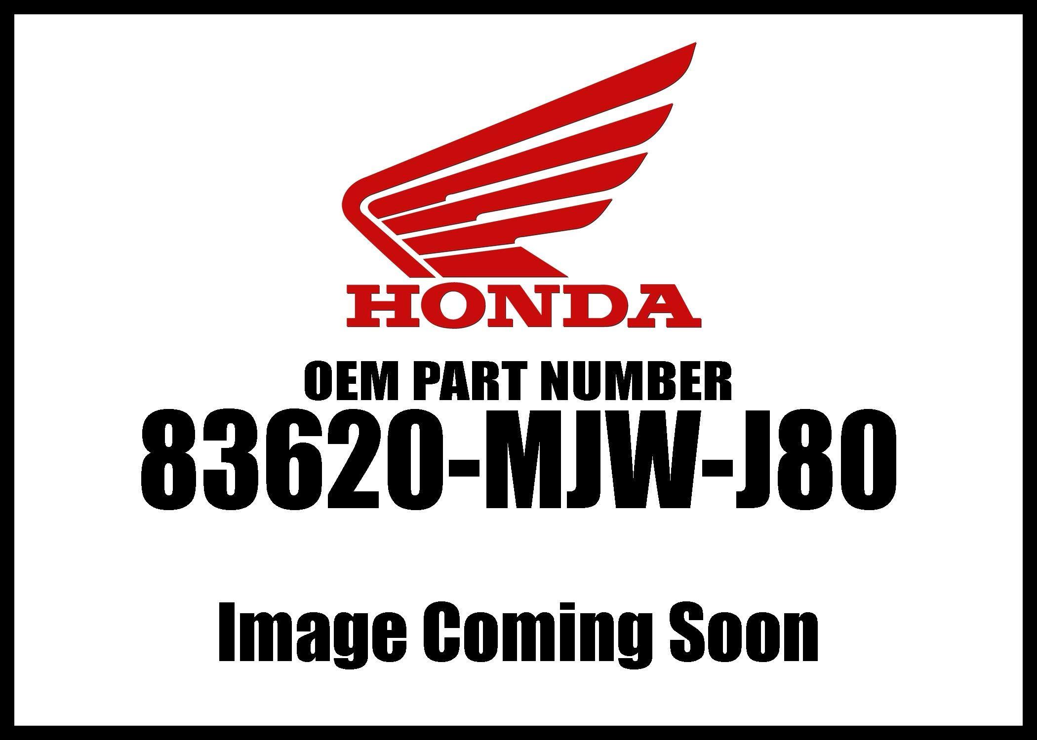 Honda 2016-2018 Cb Left Side Cover Set B 83620-Mjw-J80 New Oem