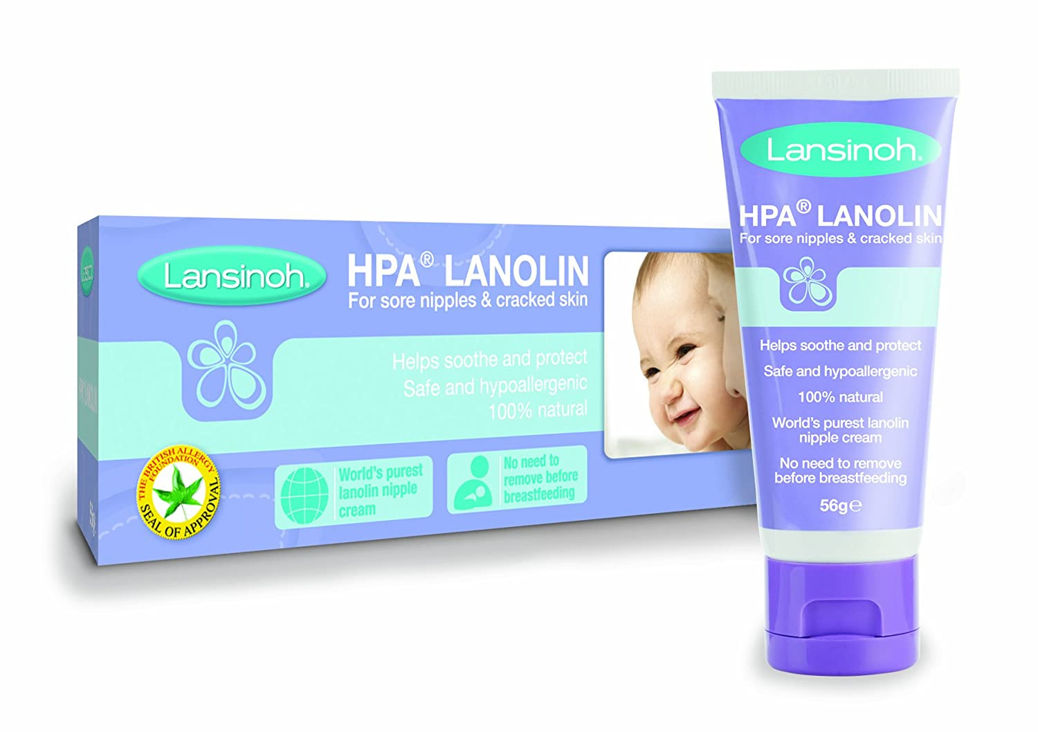 Lansinoh HPA 40ml Cream for Sore Nipples and Cracked Skin HPA Lanolin Baby Babycare lanisoh