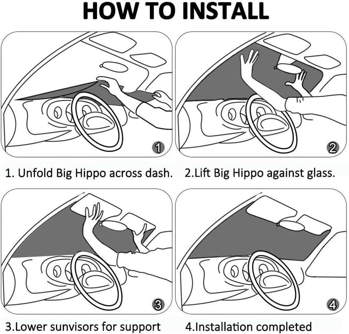 130cm MOLLUDY Car Windshield Sunshade Blocks UV Rays Sun Visor Protector Cutest Yorkies Blocks Sunshade To Keep Your Vehicle Cool And Damage Free 70