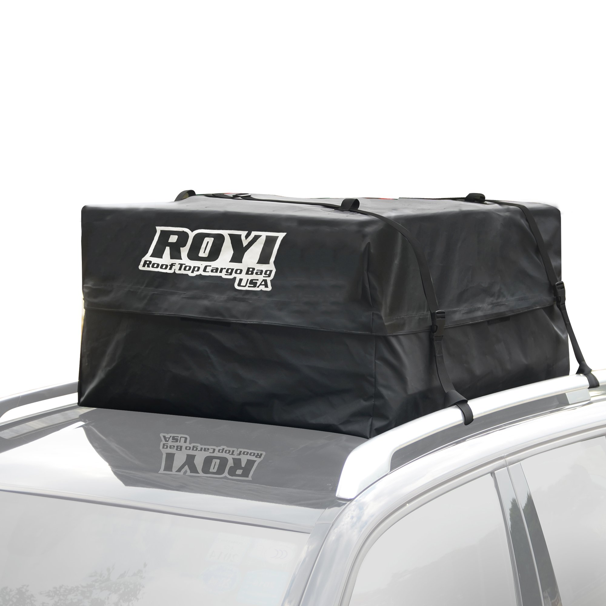 ROYI 100 % Waterproof Roof Cargo Bag Heavy-Duty Top Carrier Storage Box for Travel and Luggage Transportation | 3-Year Warranty | Fit for the Outdoor Elements(15 Cubic Feet) by ROYI