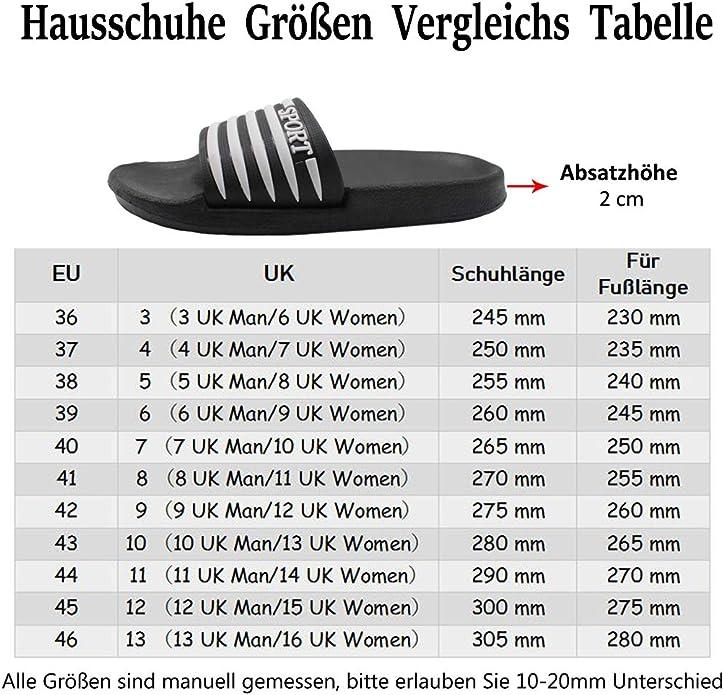 FRALOSHA Herren Slider Hausschuhe Sommer Strand Pool Sandalen Casual Streifen Flip Flop Schuhe