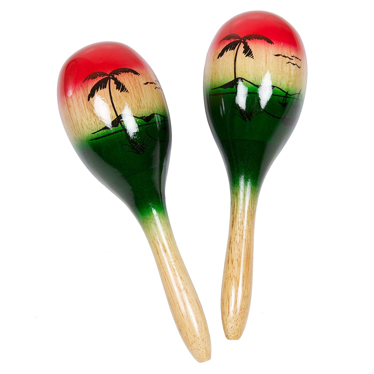 X8 Drums & Percussion X8-Mar-TRP 11-Inch Tropical Wood Maracas