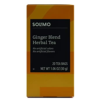 SOLIMO 20 Bags Herbal Ginger Tea