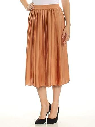 daeabc168d Maison Jules Womens Midi Silk Pleated Skirt at Amazon Women's Clothing  store: