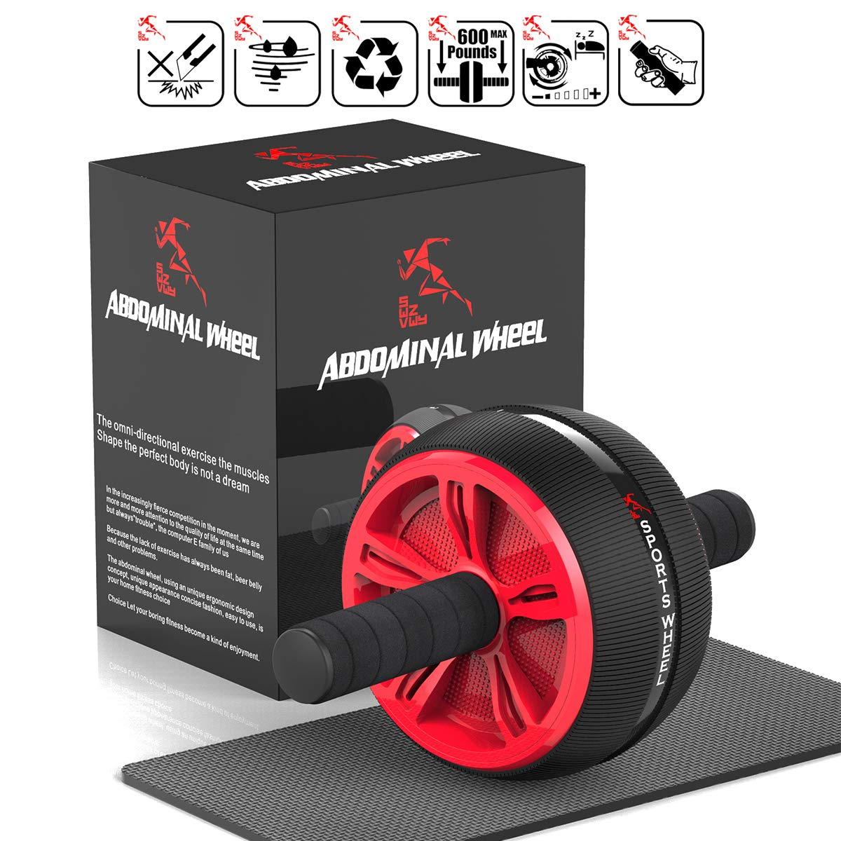 Swvzwy Ab Wheel, Ab Abs Roller Wheel Kit (圆形-A)