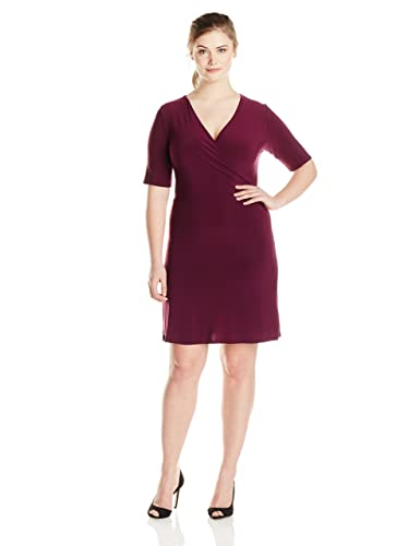 Star Vixen Women's Plus-Size Faux-Wrap Dress