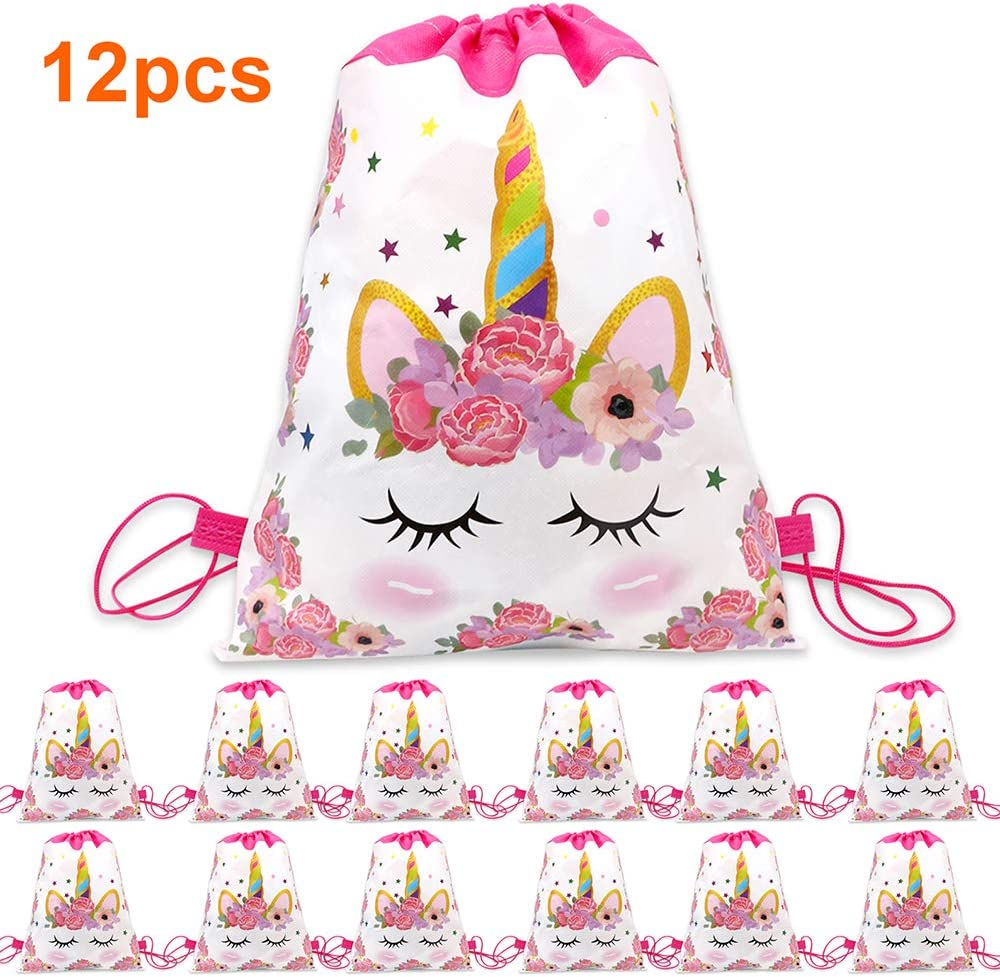 Unicorn Drawstring Bags Unicorn Treat Bags for Birthday Gift Bags /& Baby Showers