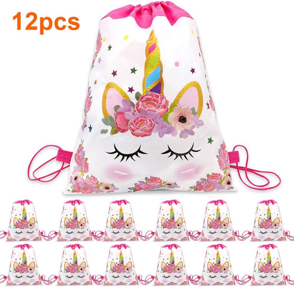 1PCS unicorn drawstring bags back bags cartoon theme Unicorn Drawstring Bag TDHN