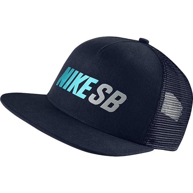 Nike SB reflejar Trucker gorra - 806014-451, Dark Blue/Omega Blue ...